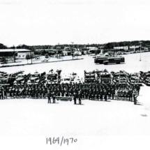 PWFD members 1969/1970 taken in parking lot of Soundview Shopping Center