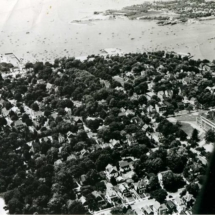 Aerial photo of Port Washington, N.Y., and Manhasset Bay. 1948