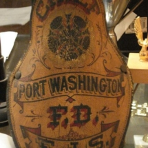 Helmet shield of PWFD's first Chief of Department, Frederick J. Snow